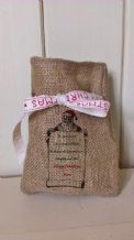 Personalized Santa List Small Father Christmas Xmas Santa Sack / Stocking Bag Jute Hessian (1)